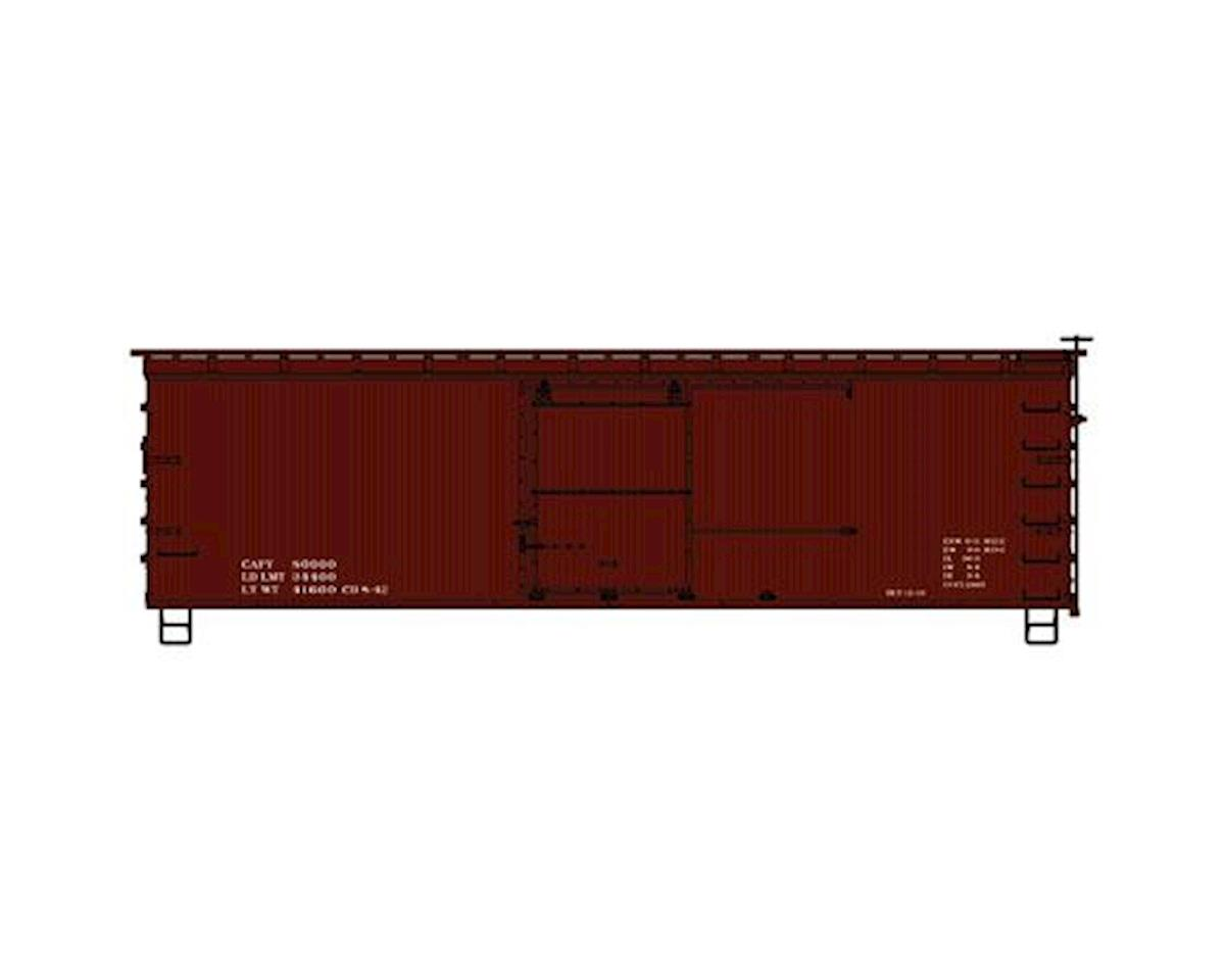 Accurail HO KIT 36' SE/DS Fishbelly Box,Data Only/Red/1940