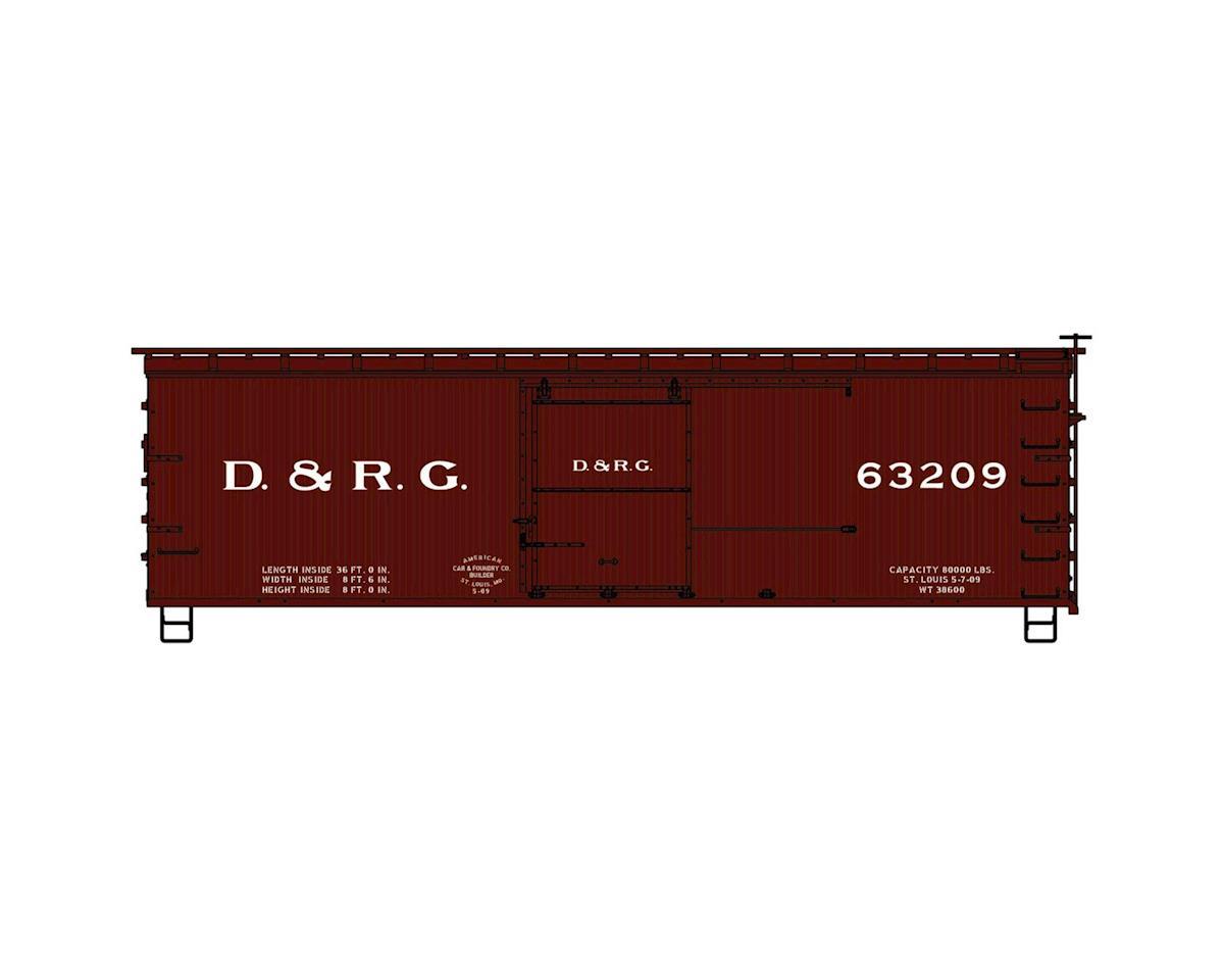 HO KIT 36' Double Sheath Box, D&RGW