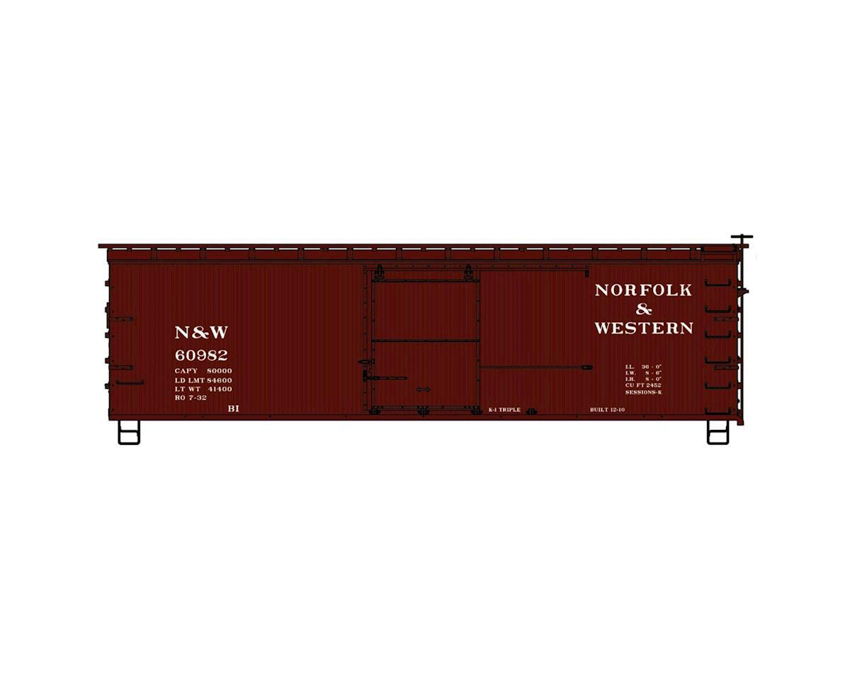 HO KIT 36' Double Sheath Box, N&W