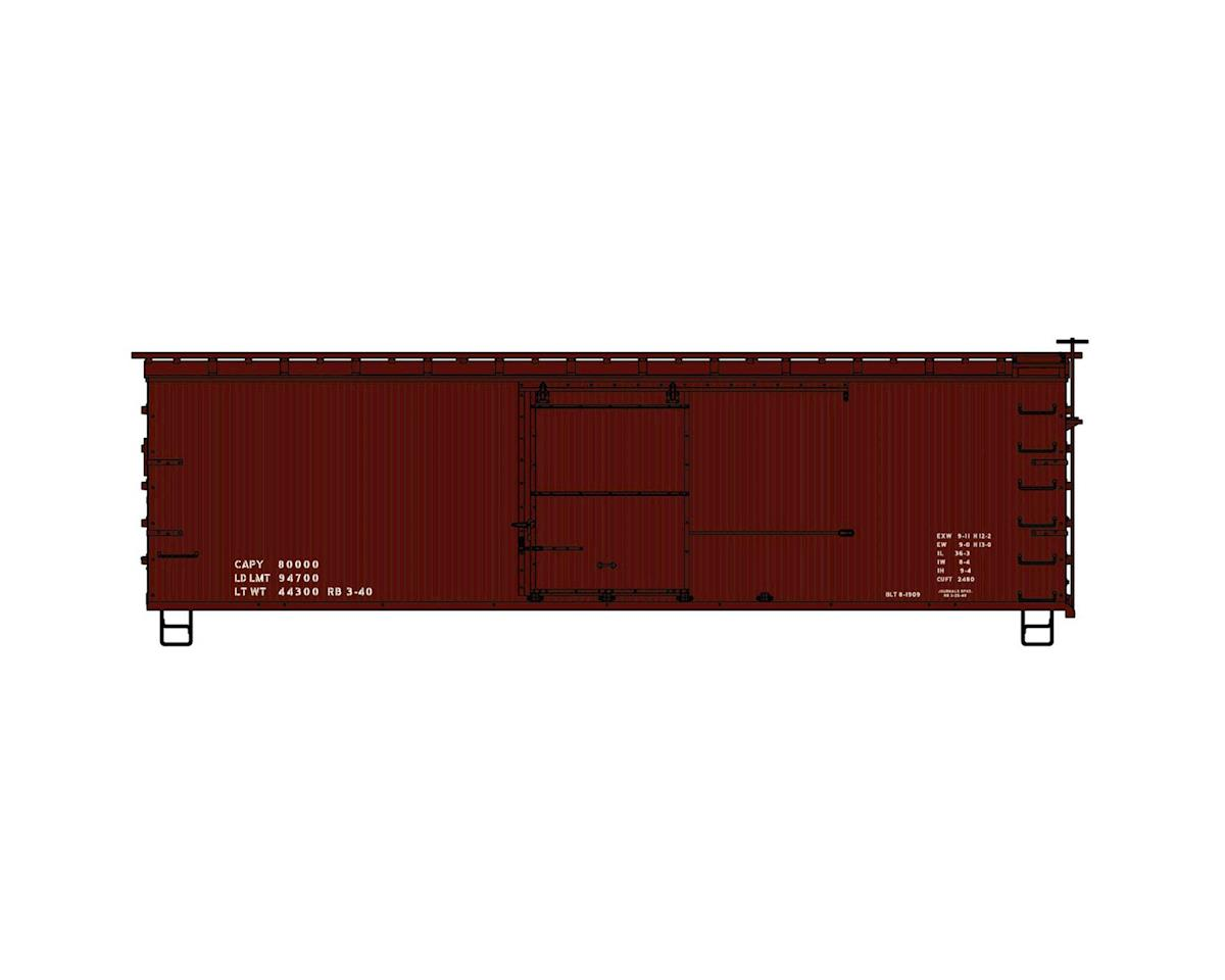 Accurail HO KIT 36' SE/DS Straight Frame Box, Data Only/Red