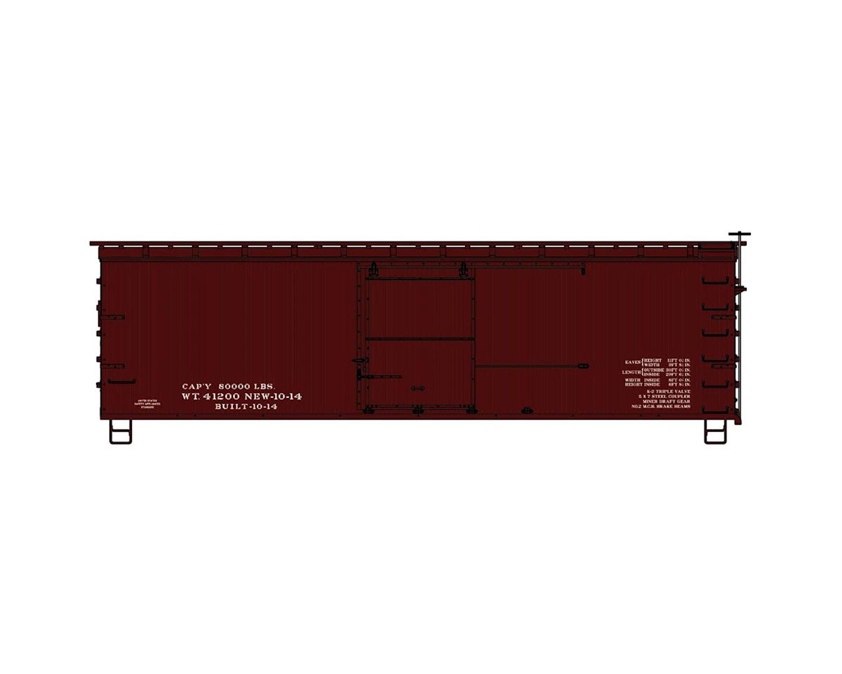 Accurail HO KIT 36' Double Sheath Box,Data Only/Mineral Red