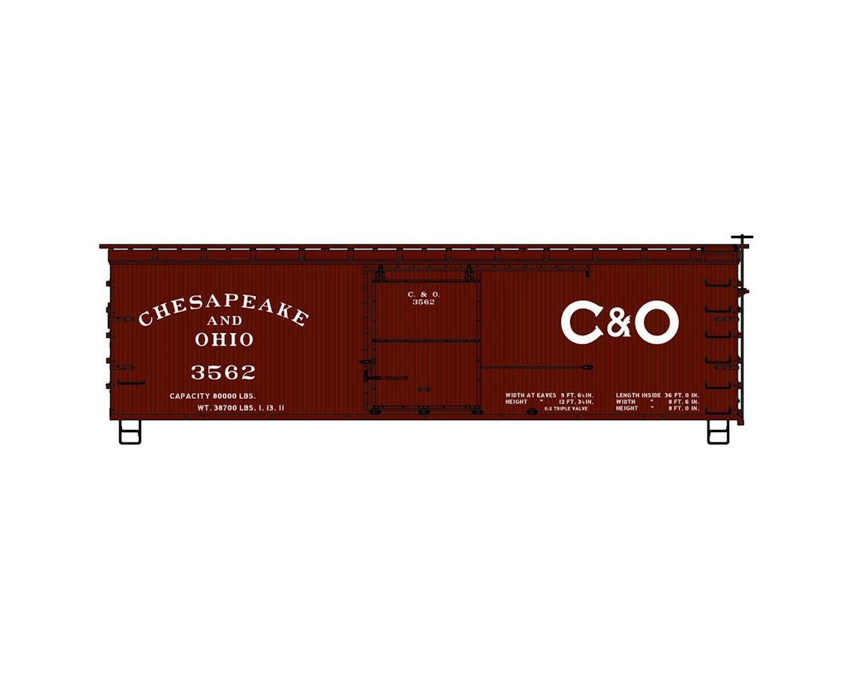 HO KIT 36' Double Sheath Box, C&O