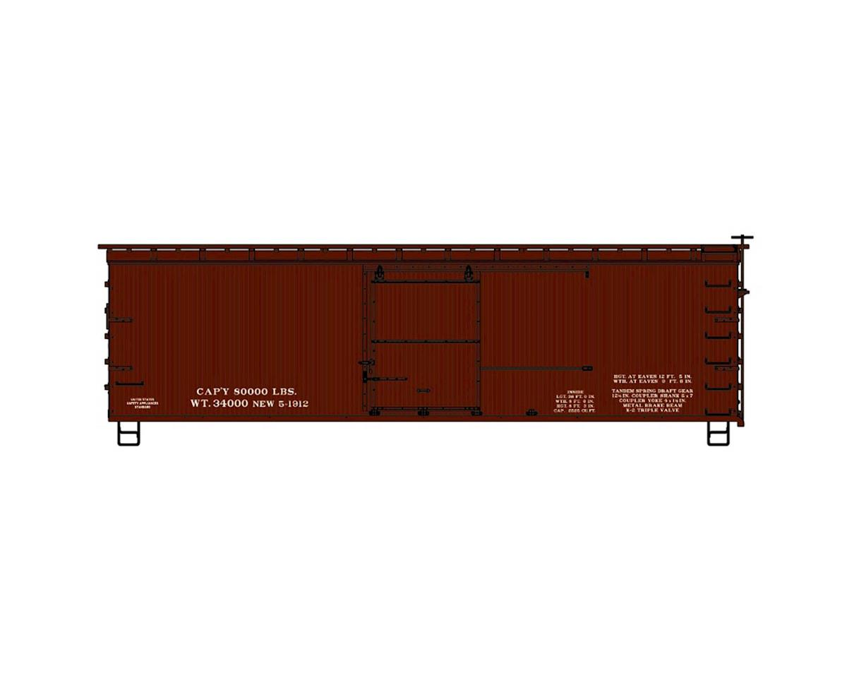 Accurail HO KIT 36' Double Sheath Box, Data Only/Oxide