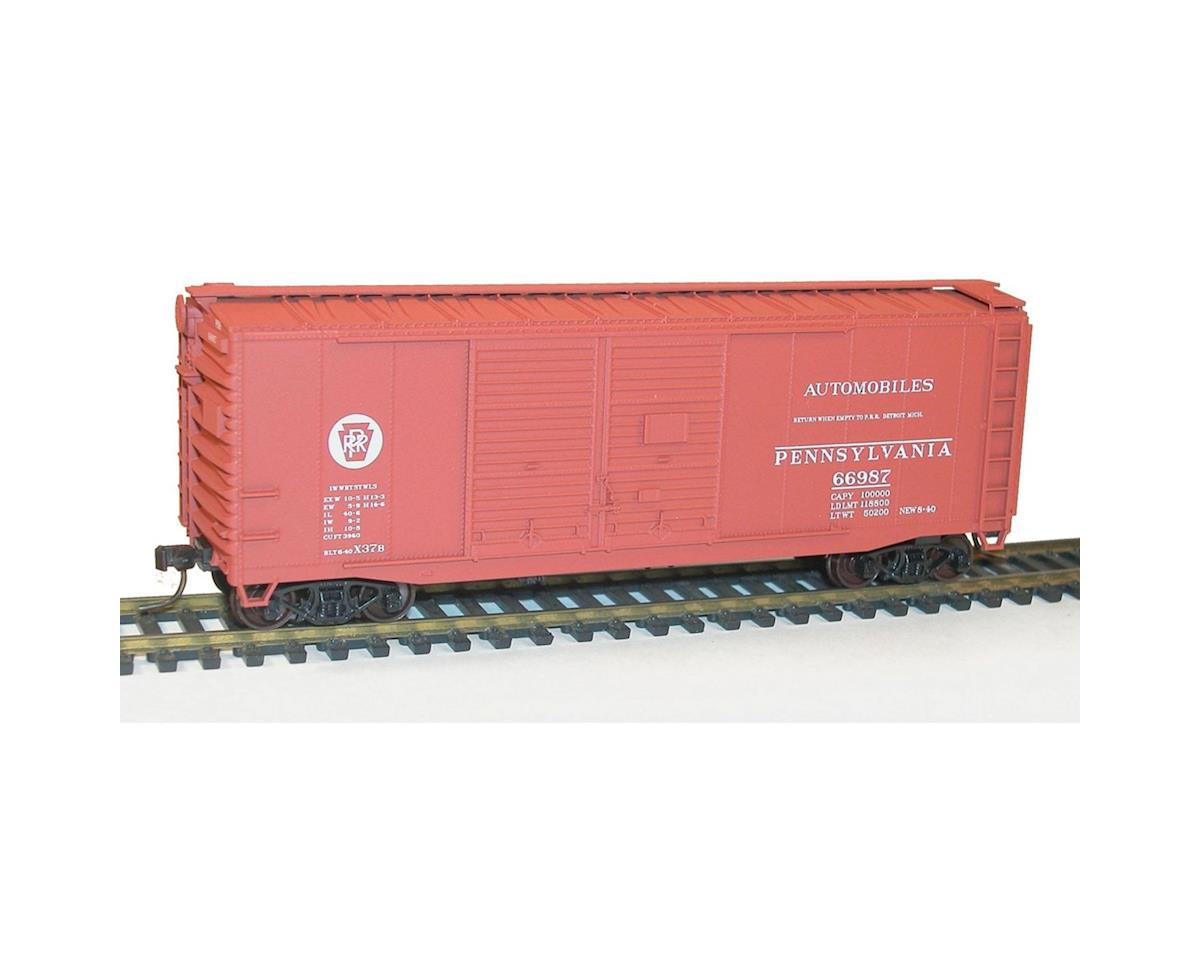Accurail HO KIT 40' Double Sheath Box, PRR/Circle Keystone