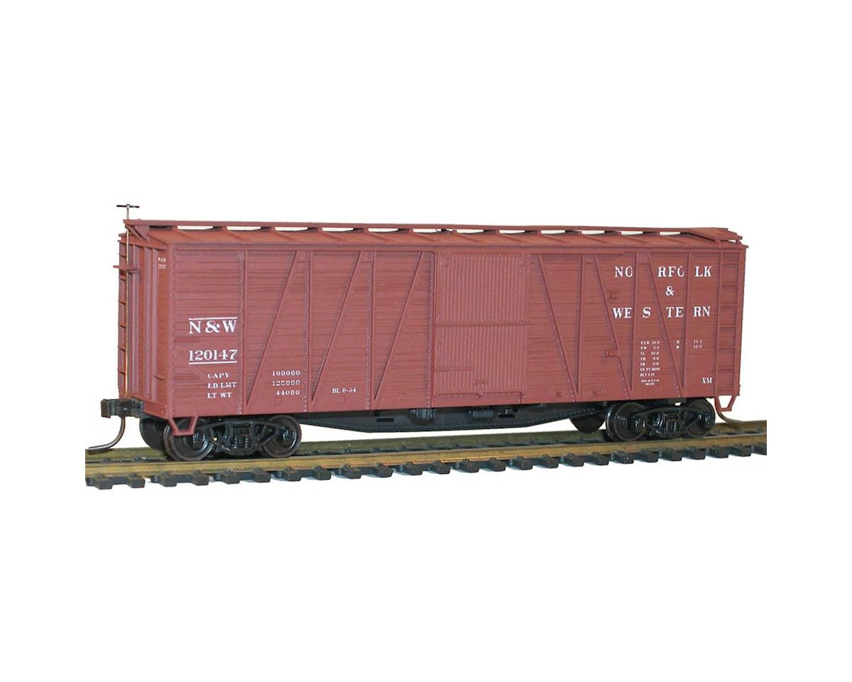 HO KIT 40'Wood Box W/Metal Ends, N&W by Accurail