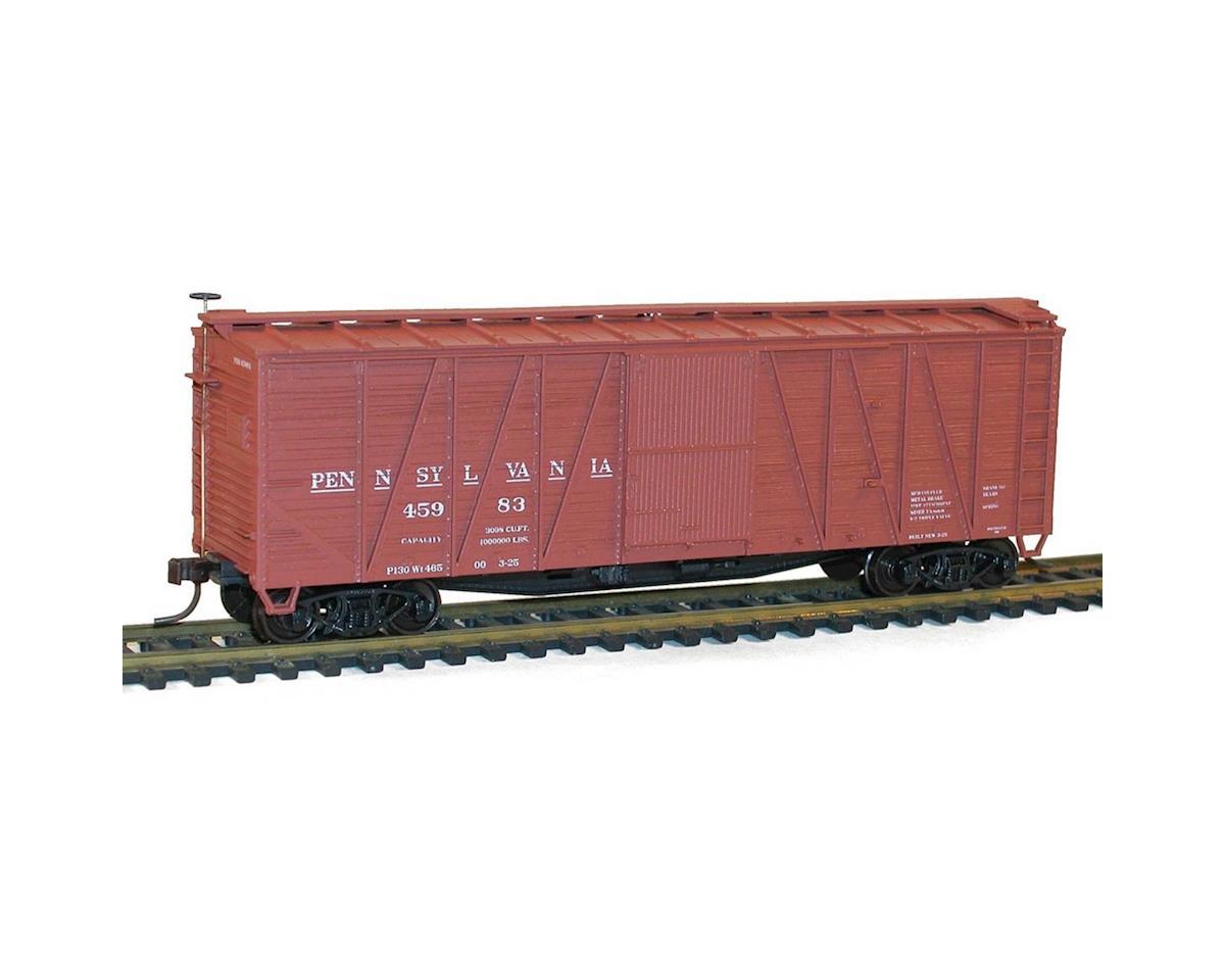 HO KIT 40' Single Sheath Wood Box, PRR/Early
