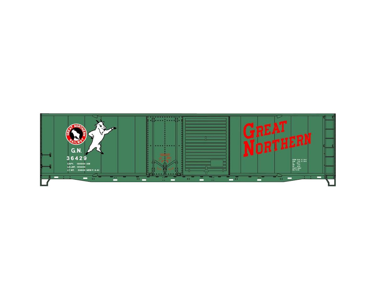 Accurail HO KIT 50' Combo Door Box, GN/Glacier Green