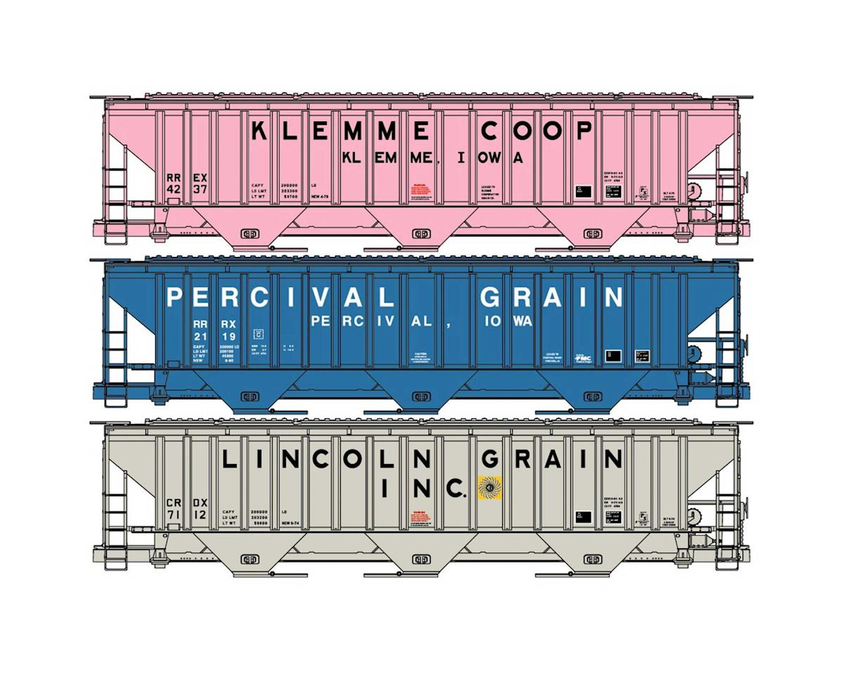 Accurail HO KIT PS4750 Cov Hop, Klemme/Percival/Lincoln (3)