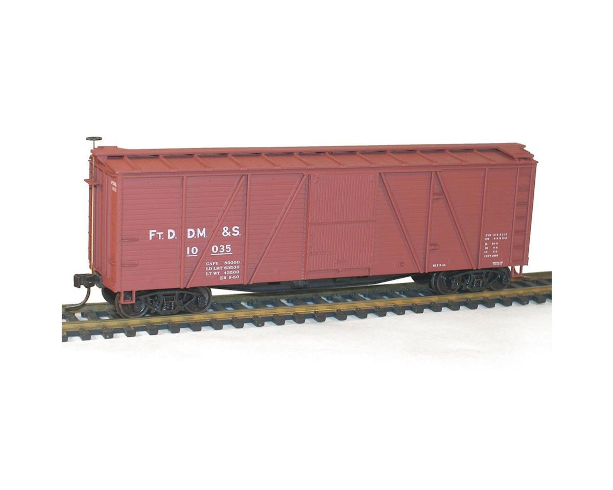 HO KIT 40' Wood Box, FtDDM&S
