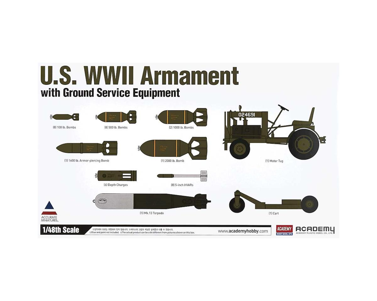 Academy/MRC 1/48 Us Wwii Armament W/Ground Service Equipment