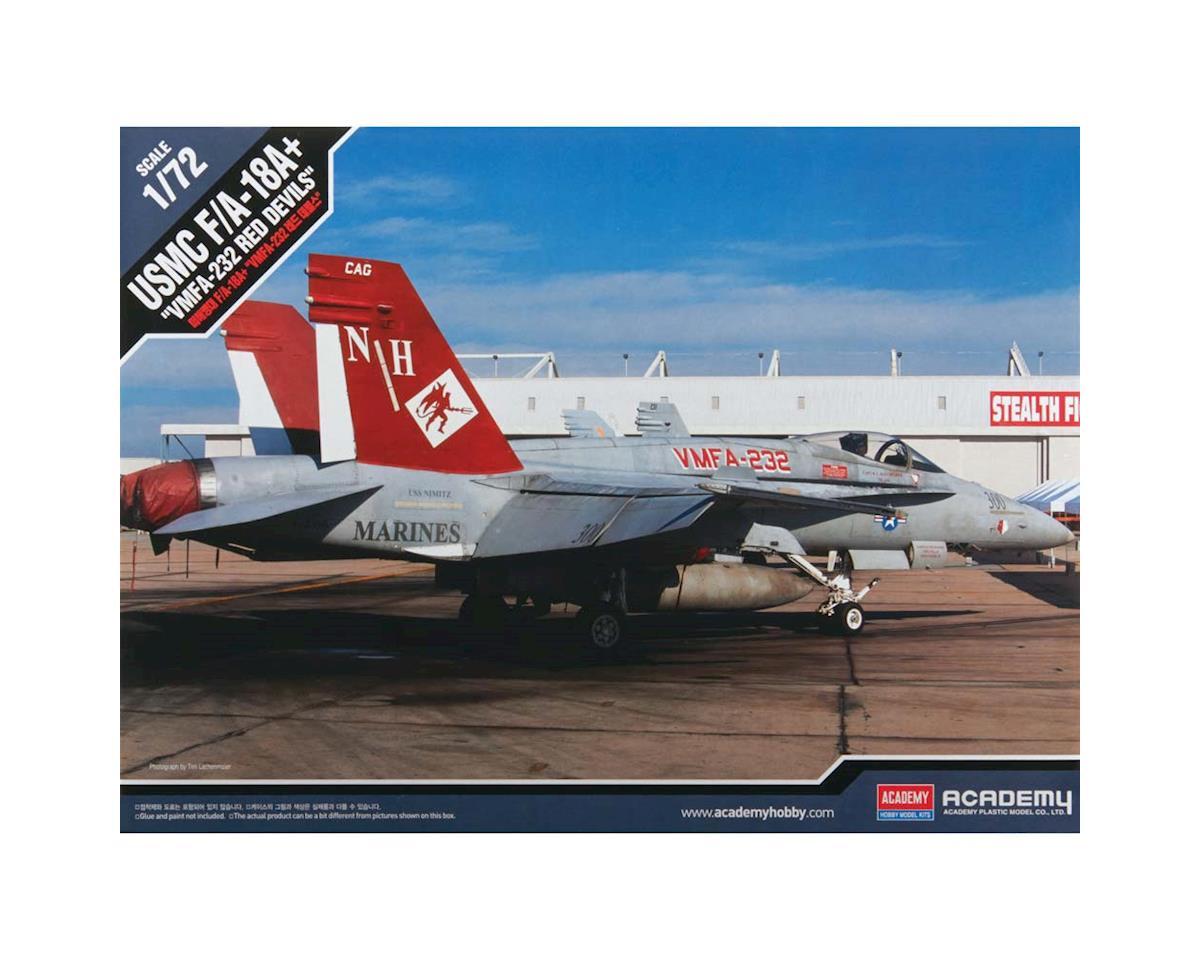 Academy Plastics  1/72 Usmc F/A 18A+Vmfa-232 Red Devils Model