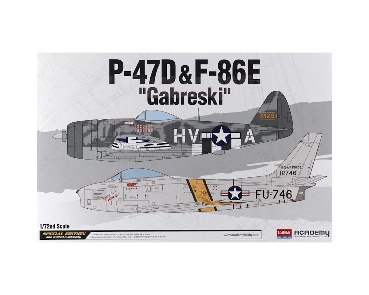 Academy/MRC 12530 1/72 P-47D/F-84E Gabreski