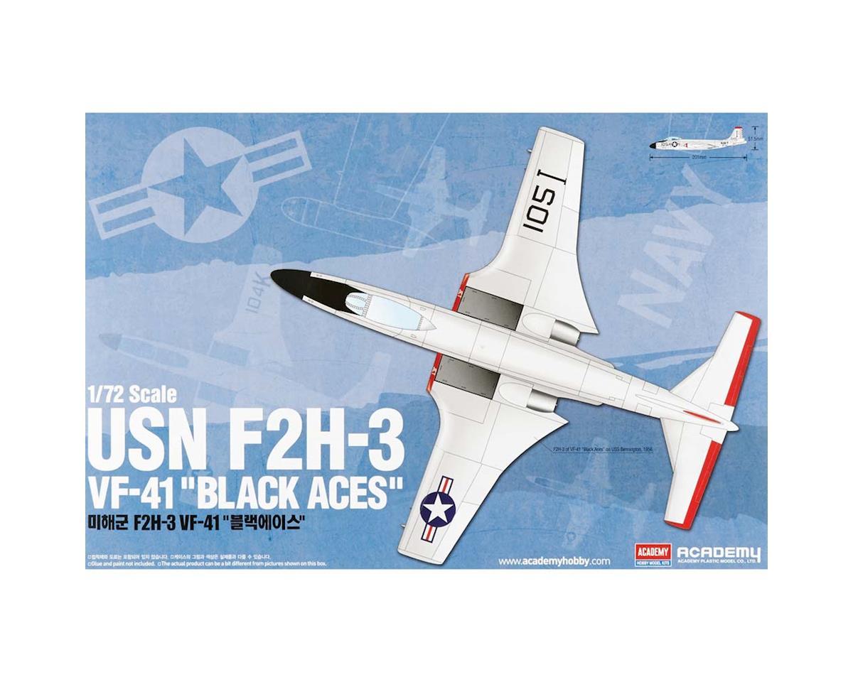 Academy/MRC 12548 1/72 F2H-3 VF-41 Black Aces USN