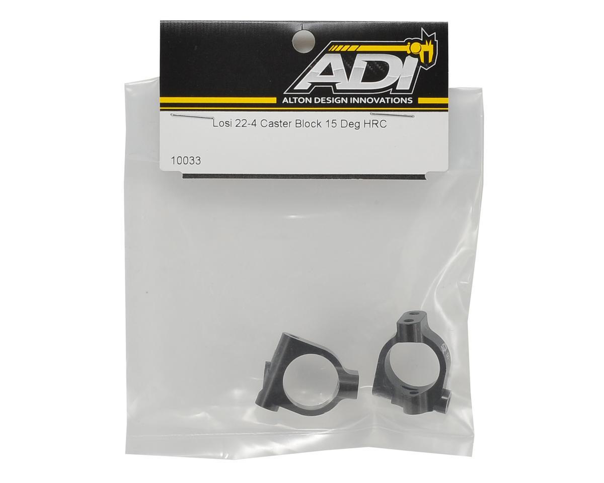 ADI 22-4 Aluminum 15° Caster Block Set