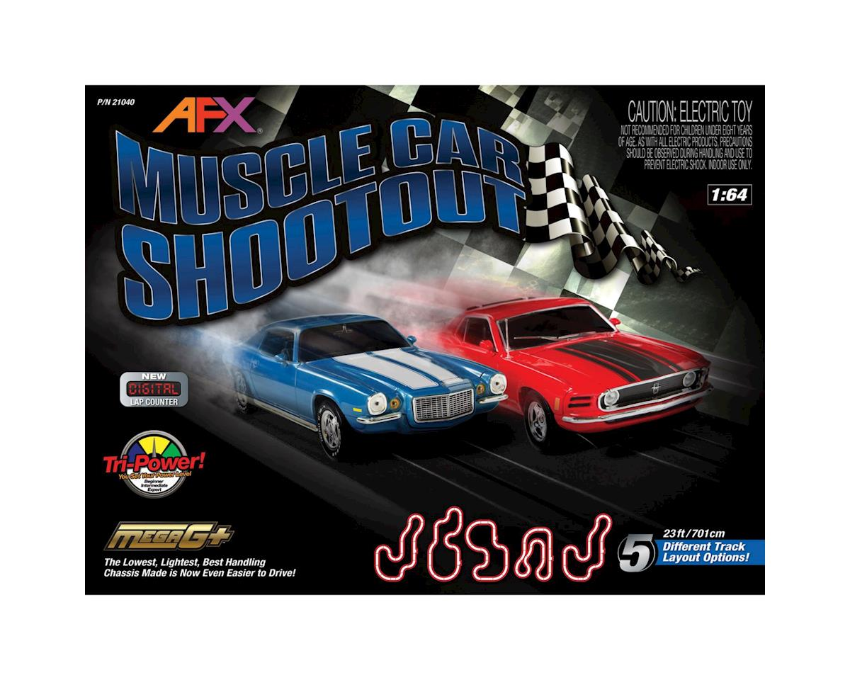 AFX Muscle Car Shootout Slot Car Track w/Lap Counter (Mustang/Camaro)
