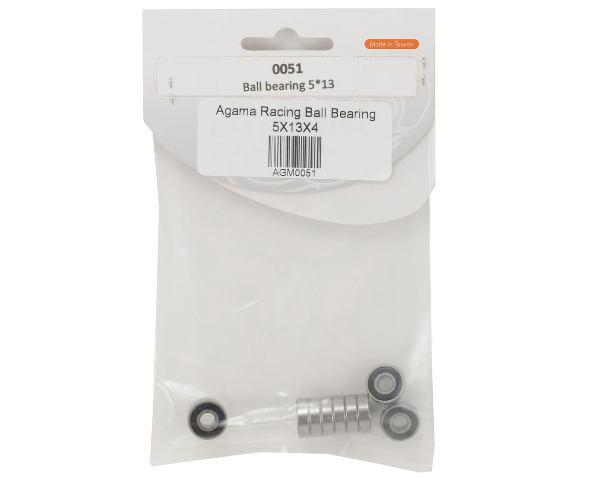 Agama Racing 5x13x4mm Ball Bearing Set (10)
