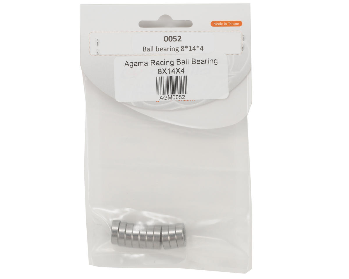 Agama Racing 8x14x4mm Ball Bearing Set (10)