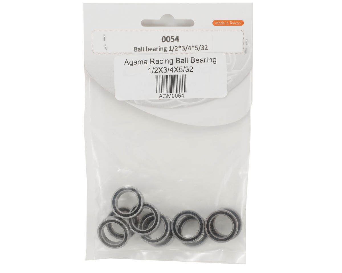"Agama Racing 1/2x3/4x5/32"" Ball Bearing Set (10)"