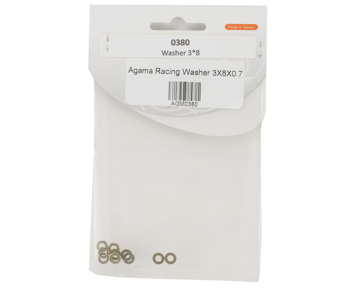 Agama Racing 3x8x0.7mm Washer Set (10)