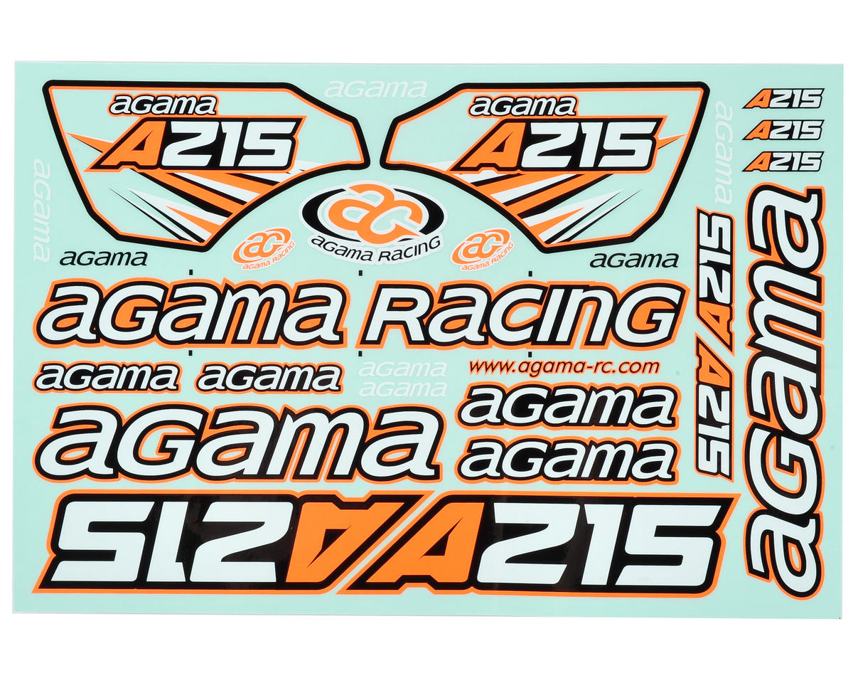 Agama Racing A215 Decal Sheet