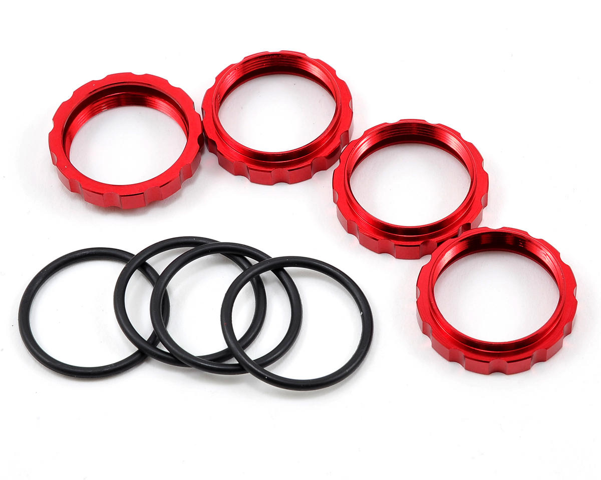 Agama Racing Shock Adjuster Nut (Red) (4)