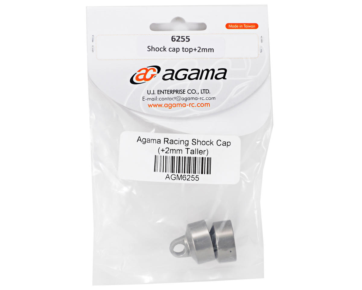 Agama Racing Shock Cap Set (+2mm Taller) (2)