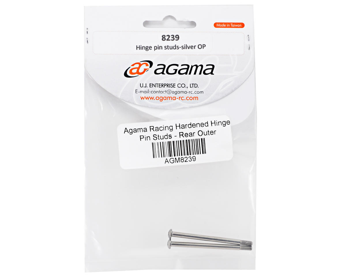 Agama Hardened Rear Outer Hinge Pin Stud Set (2)