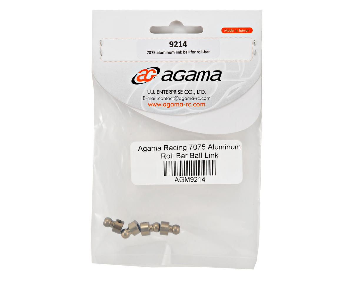 Agama Racing 7075 Aluminum Roll Bar Ball Link Set (4)