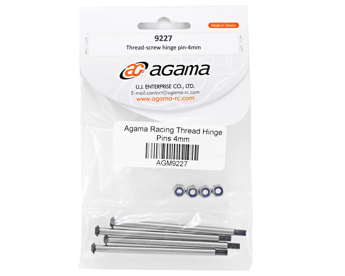 Agama Racing 4mm Threaded Inner Hinge Pin Set (4)