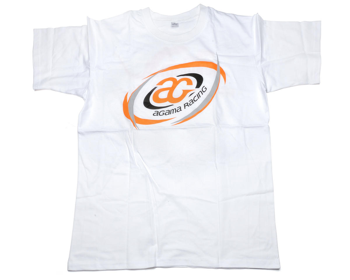 Agama Racing White T-Shirt (Large)