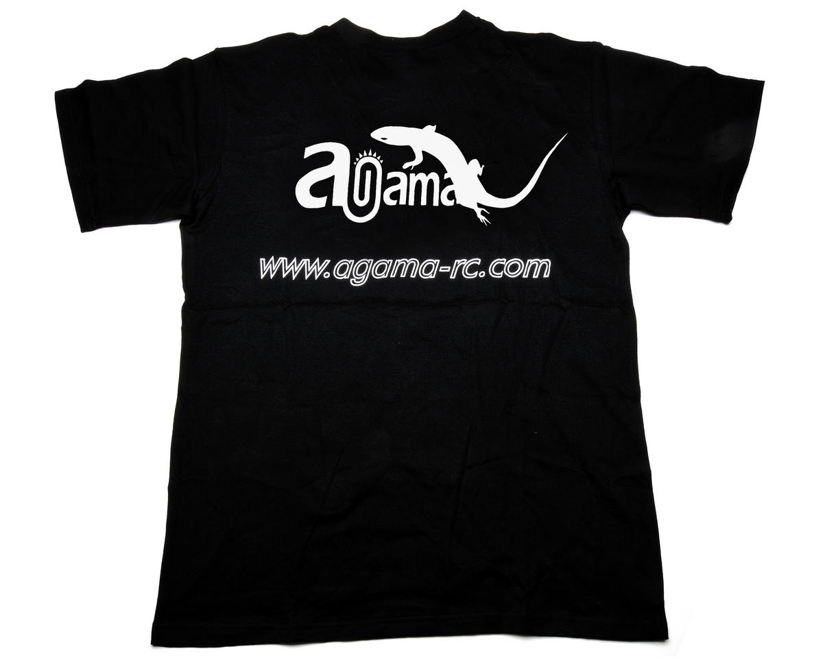 Agama Racing Black T-Shirt (2X-Large)