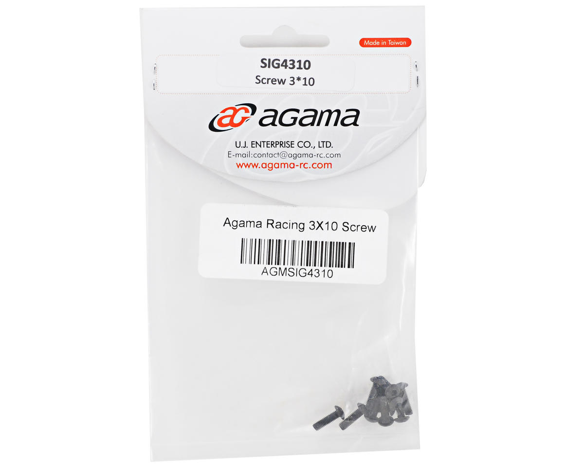 Agama Racing 3x10mm Button Head Screw (10)