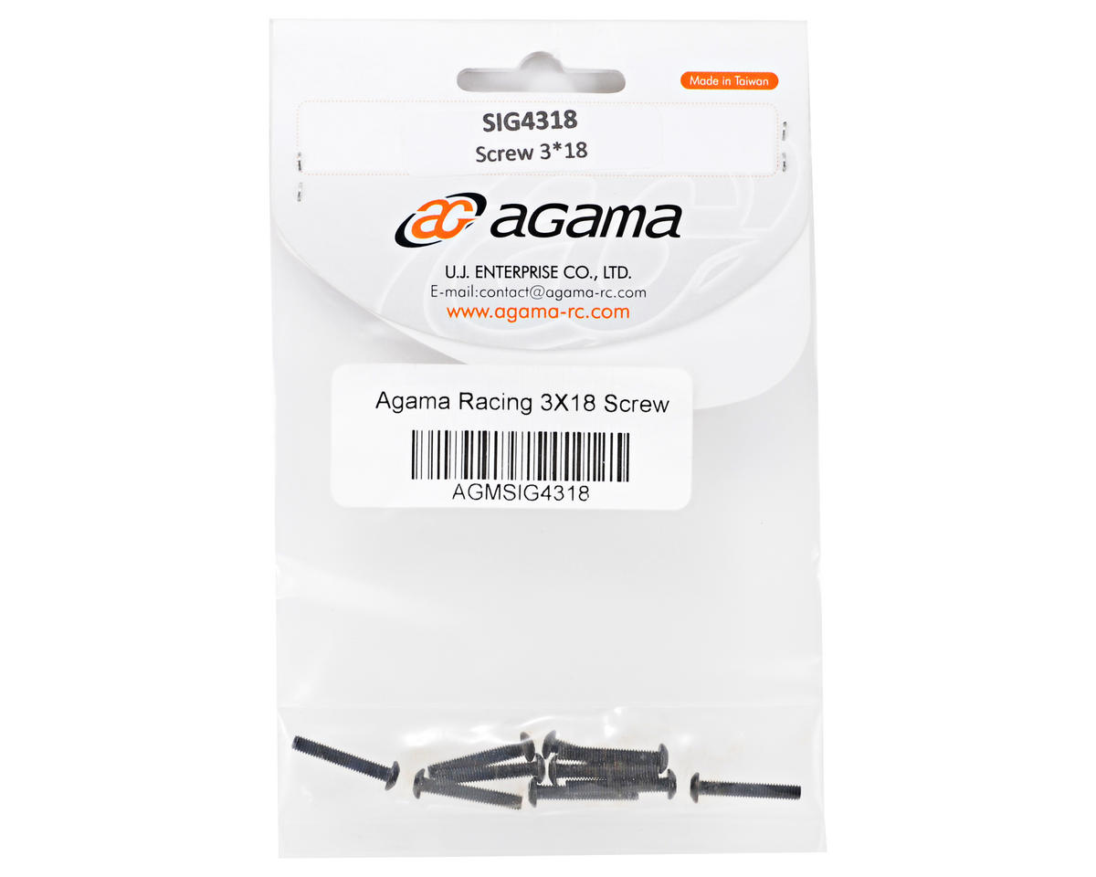 Agama Racing 3x16mm Button Head Screw (10)