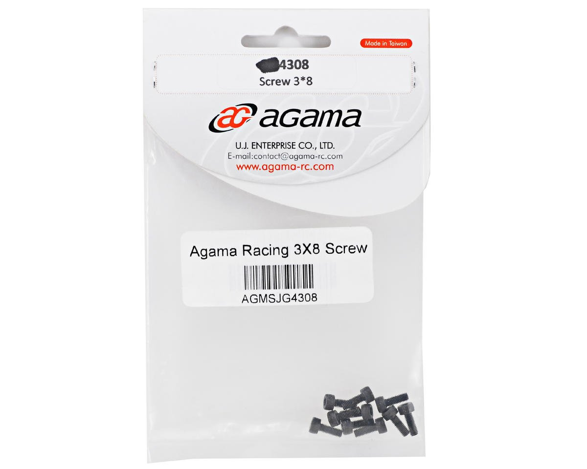 Agama Racing 3x8mm Button Head Screw (10)