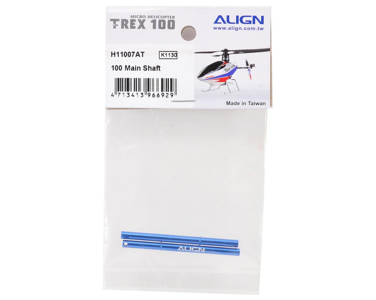 Align 100 Metal Main Shaft Set (Blue) (2)
