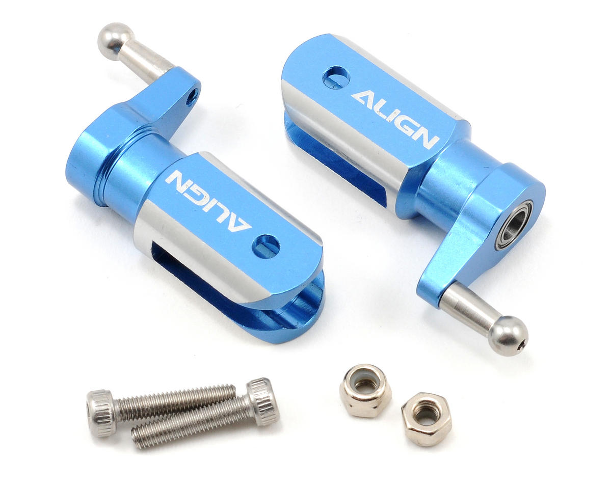 Align Metal Main Rotor Holder Set (Blue)