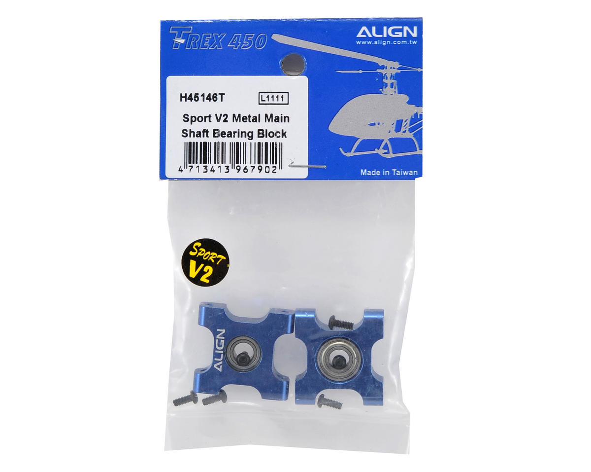 Align Sport V2 Metal Main Shaft Bearing Block Set