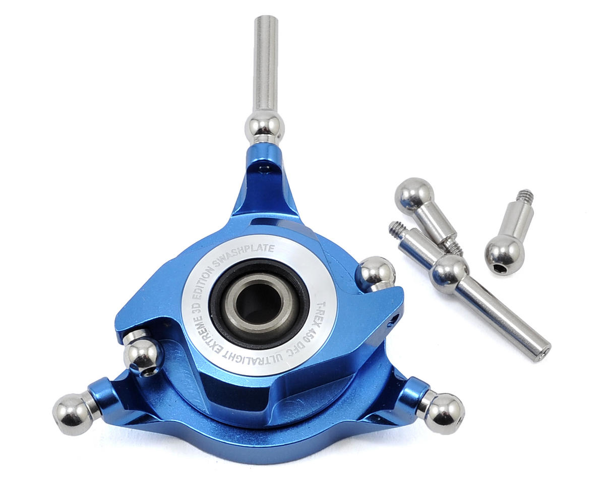 Align 450DFC CCPM Metal Swashplate (Blue)