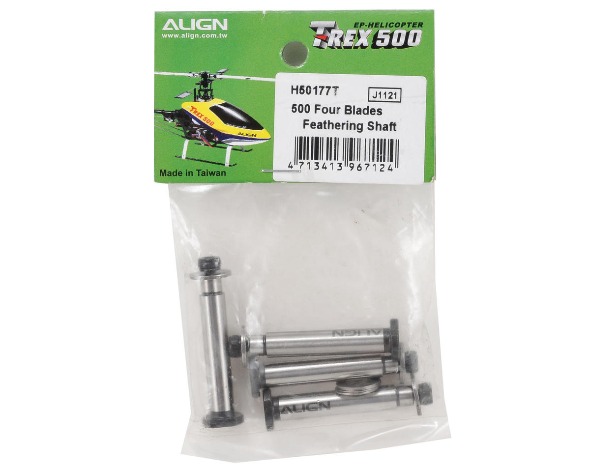 "Align 500 ""Four Blade"" Feathering Shaft Set"