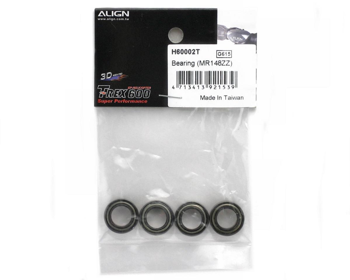 8x14x4mm Bearing Set (MR148ZZ) (4) (600/600CF) by Align