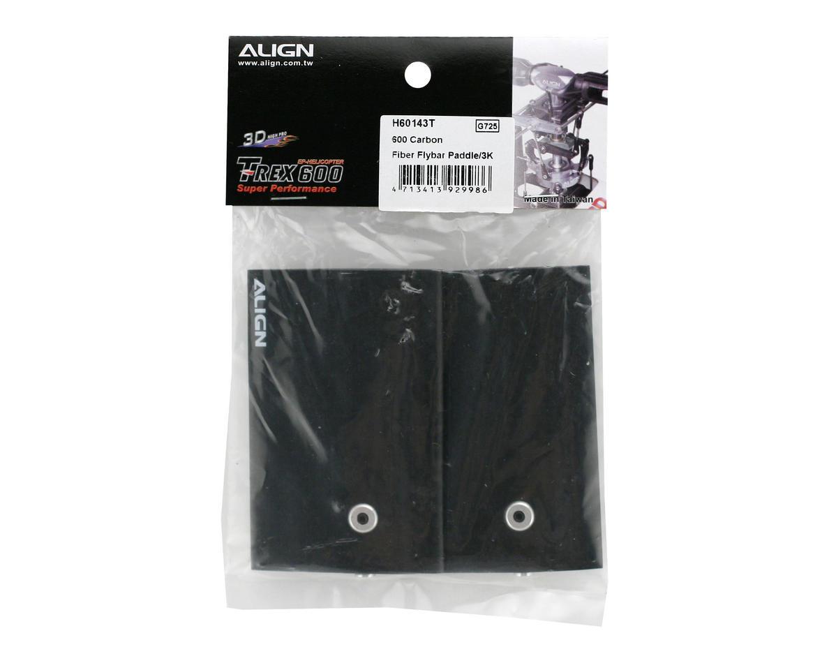 Align 600 Carbon Fiber Flybar Paddle (2)