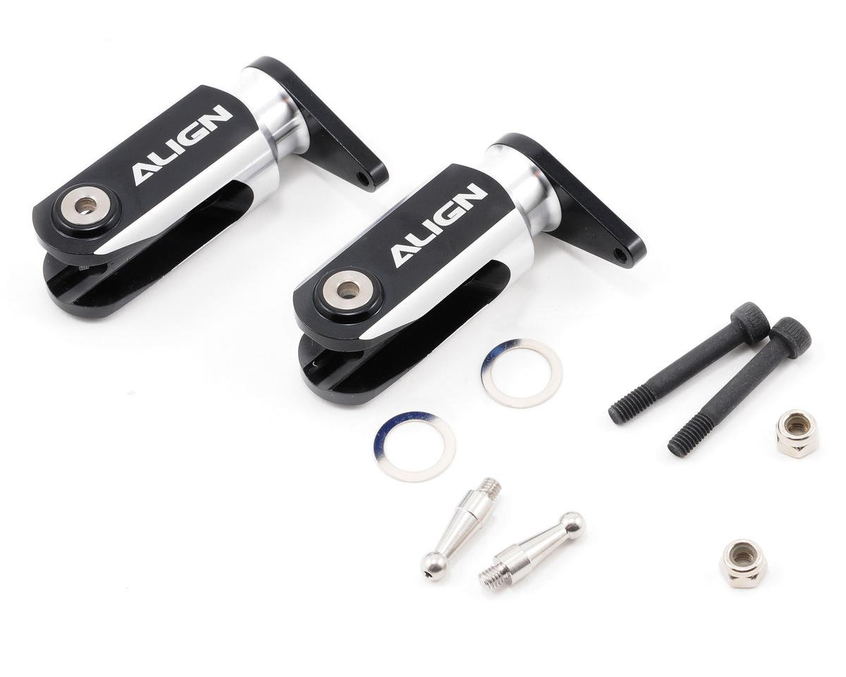 Align 600 Metal Main Rotor Holder Set (Black)