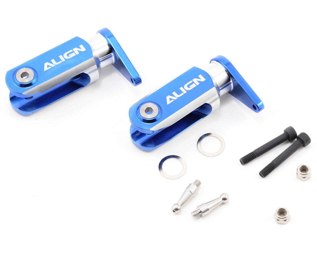 Align 600 Metal Main Rotor Holder Set (Blue)