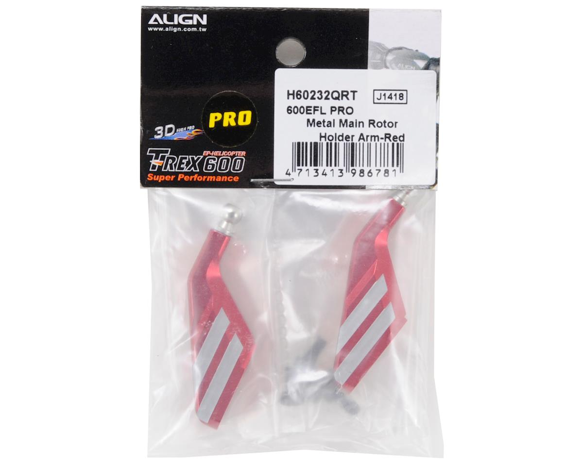 600EFL PRO Metal Main Rotor Holder Arm Set (Red) by Align