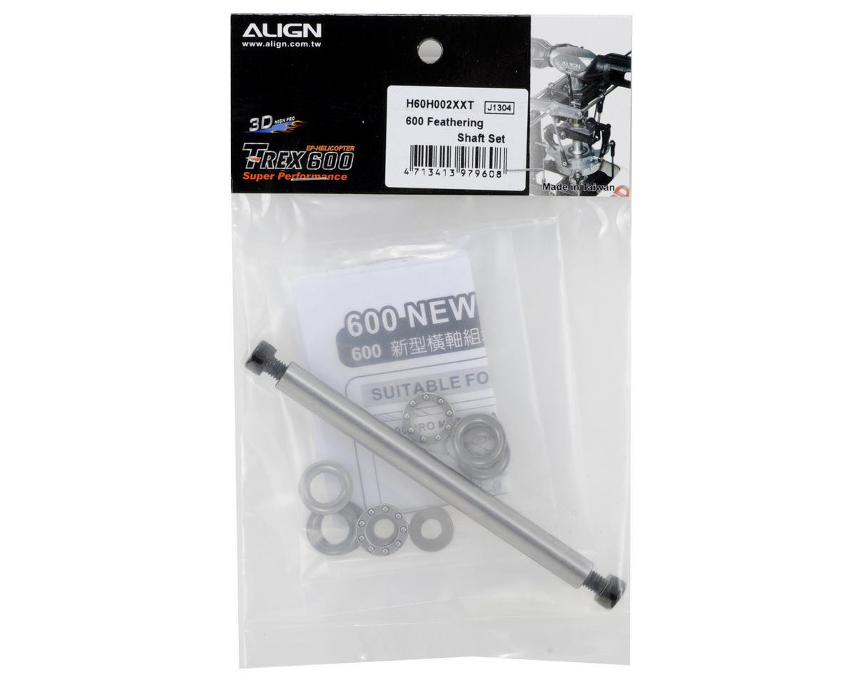 Align 600 8mm Feathering Shaft Set