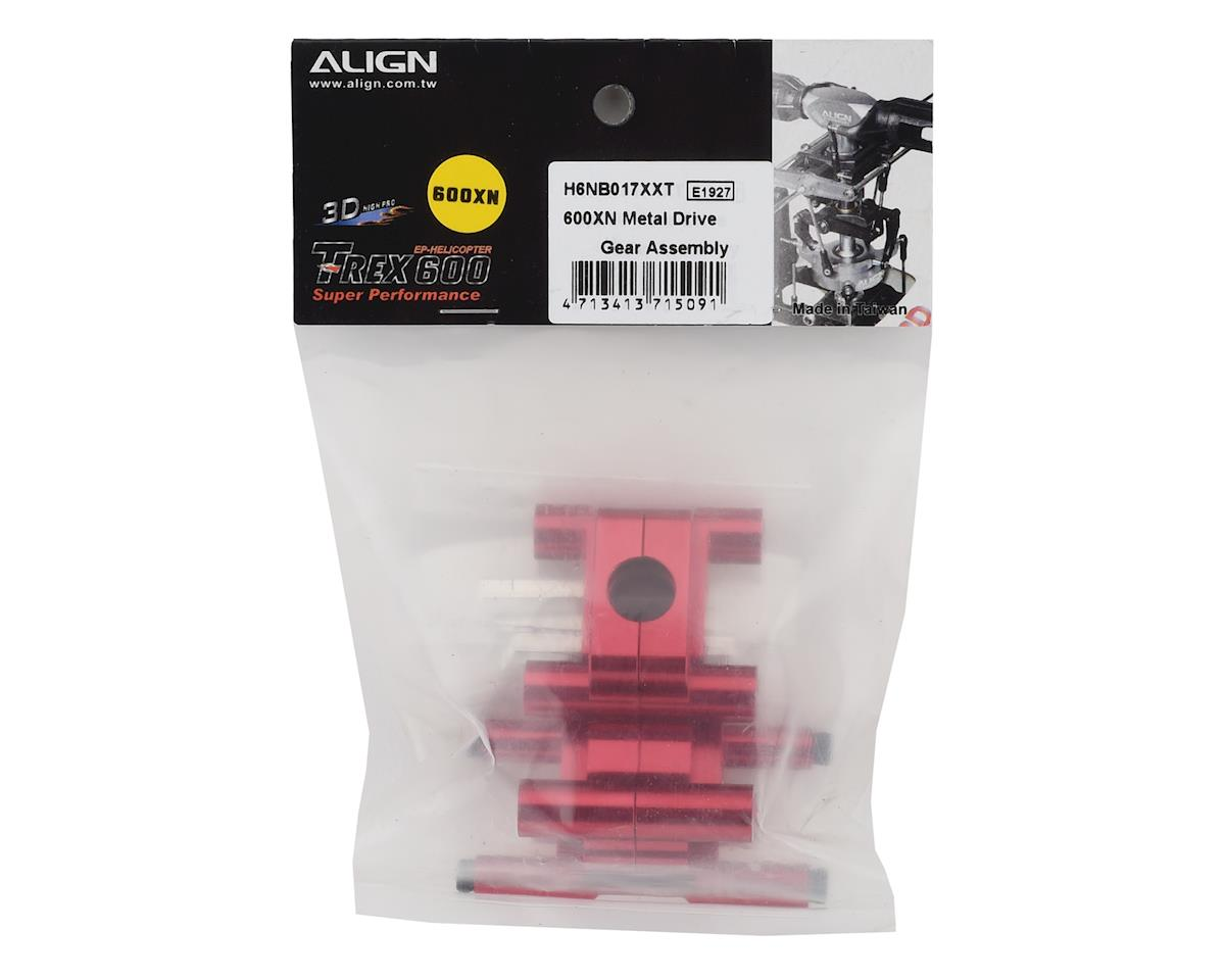 Align 600XN Metal Drive Gear Assembly (Red)
