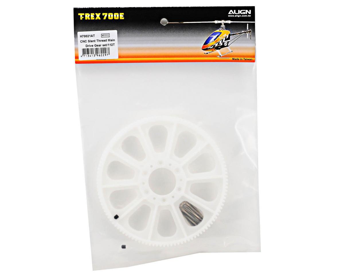 Align CNC Slant Thread Main Drive Gear Set w/12T Pinion (112T)