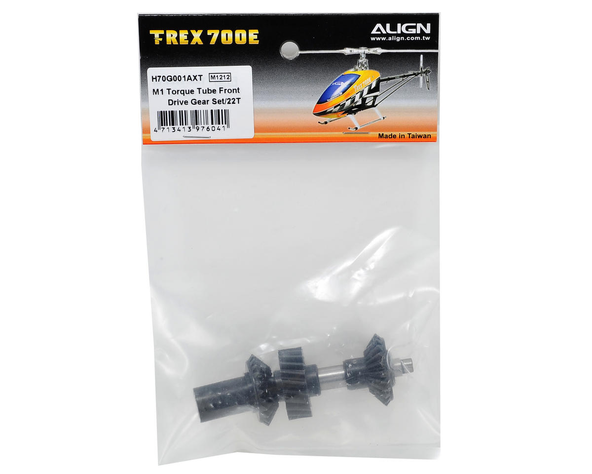 Align M1 Torque Tube Front Drive Gear Set (22T) (Updated)