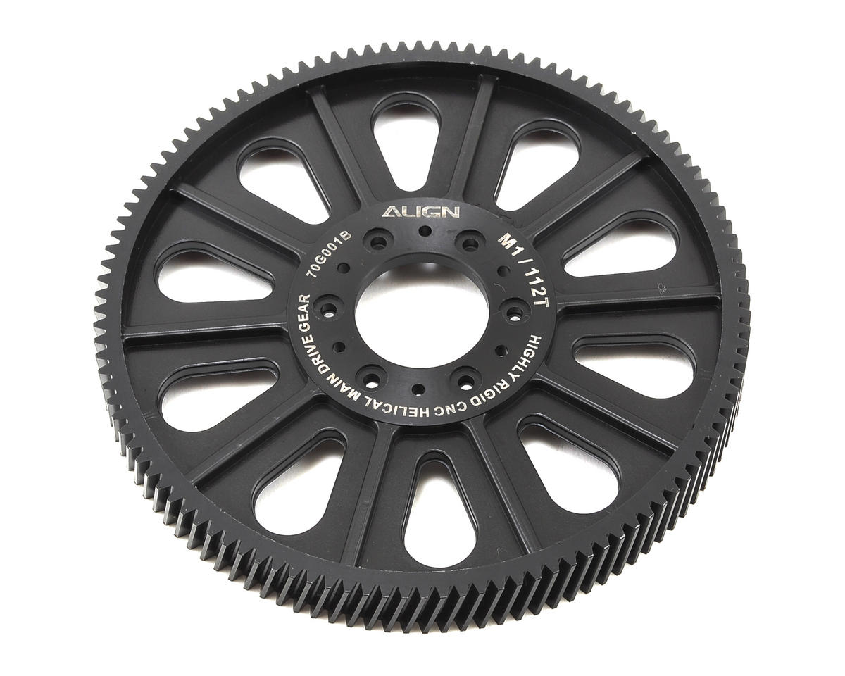 Align T-Rex 700L Dominator CNC Slant Thread Main Drive Gear (112T/13.5mm)