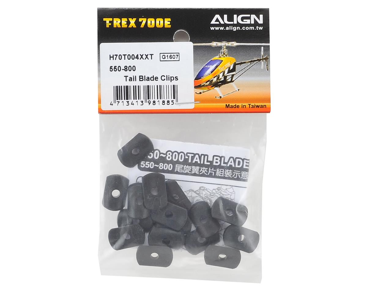 Align Tail Blade Clips (16) (T-Rex 550-800)
